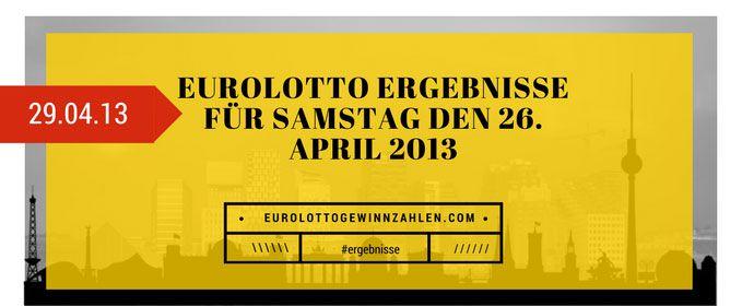 EuroLotto Ergebnisse für Samstag