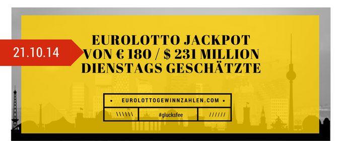 Eurolotto Jackpot von € 180 / $ 231 Million